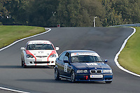 #51 Abbott / Bromley BMW E36 Compact 1900 during the CSCC Tin Tops at Oulton Park, Little Budworth, Cheshire, United Kingdom. October 15 2016. World Copyright Peter Taylor/PSP. <br /> Copy of publication required for printed pictures.  Every used picture is fee-liable. http://archive.petertaylor-photographic.co.uk
