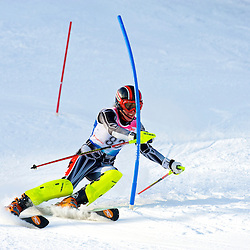 Woman Slalom FIS race in Mont-Gabriel, Qc