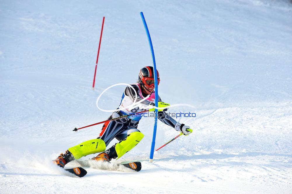 Woman Slalom FIS race in Mont-Gabriel, Qc