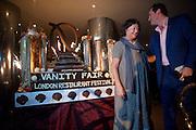 FAY MASCHELER; SIMON DAVIS, London Restaurant Festival: The Vanity Fair Opening Party <br /> Quaglino's, 16 Bury Street, London SW1. 7 October 2009