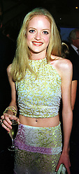 LADY ELOISE ANSON daughter of the Earl of Lichfield, at a party show in London on 30th September 1999.MXA 12