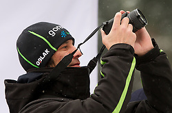 Primoz Peterka, assistant coach of Slovenia during Normal Hill Individual Competition at FIS World Cup Ski jumping Ladies Ljubno 2012, on February 11, 2012 in Ljubno ob Savinji, Slovenia. (Photo By Vid Ponikvar / Sportida.com)
