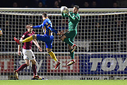 Northampton Town goalkeeper Richard O'Donnell (13) makes an important save during the EFL Sky Bet League 1 match between Northampton Town and Shrewsbury Town at Sixfields Stadium, Northampton, England on 20 March 2018. Picture by Dennis Goodwin.