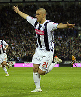 Photo: Rich Eaton.<br /> <br /> West Bromwich Albion v Wolverhampton Wanderers. Coca Cola Championship. Play off Semi Final 2nd Leg. 16/05/2007. West Broms Kevin Phillips scores the first goal of the evening and celebrates