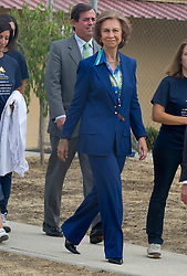 """SPAIN OUT...Queen of Spain, Sofia, visits """"Friends of Animals"""", an adoption centre for abandoned animals, Valdetorres de Jarama, Madrid, Spain, September 18, 2012. Photo by Belen Diaz / DyD Fotografos / i-Images."""
