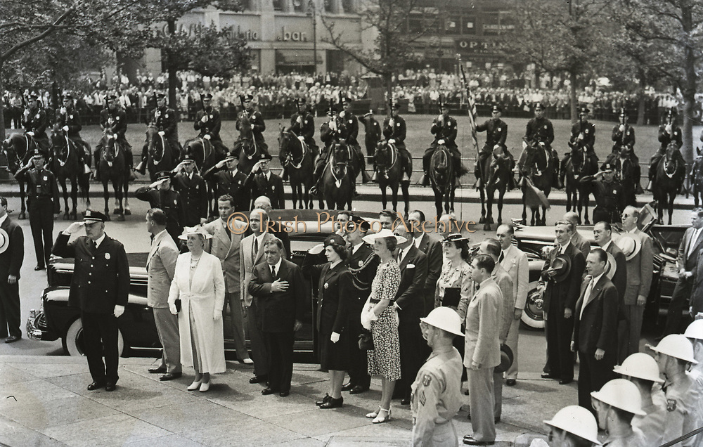 Wilhelmina  31 August 1880 - 28 November 1962) was Queen regnant of the Kingdom of the Netherlands from 1890 to 1948. She ruled the Netherlands for fifty-eight years, longer than any other Dutch monarch. Her reign saw World War I and World War II. Shown heer visiting New York