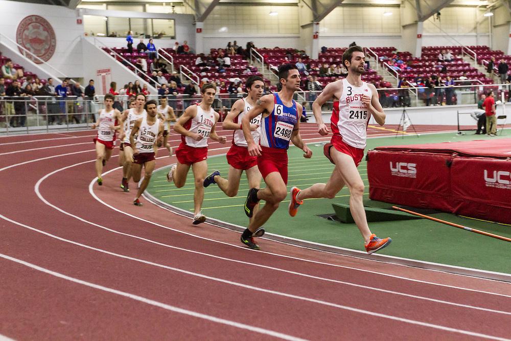 Boston University Multi-team indoor track & field, men 3000 meters, Rich Peters BU