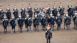 Major General George Norton CBE leads the annual inspection of the Household Cavalry at Horse Guards Parade today, London, UK, March 22, 2013. Photo by: i-Images...
