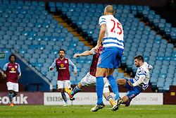 Charlie Austin of QPR scores a goal to make it 2-3 - Photo mandatory by-line: Rogan Thomson/JMP - 07966 386802 - 07/04/2015 - SPORT - FOOTBALL - Birmingham, England - Villa Park - Aston Villa v Queens Park Rangers - Barclays Premier League.