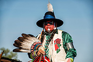 Crow Fair, Parade, Crow Indian Reservation, Montana, eagle feather fan