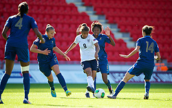 LLANELLI, WALES - Saturday, August 31, 2013: England's Nikita Parris in action against France during the Final of the UEFA Women's Under-19 Championship Wales 2013 tournament at Parc y Scarlets. (Pic by David Rawcliffe/Propaganda)
