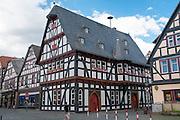 historisches Rathaus, Schotten, Vogelsberg, Hessen, Deutschland | historical guild hall, Schotten, Vogelsberg, Hesse, Germany