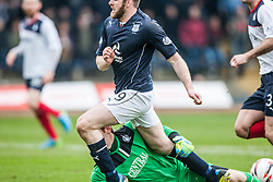 Falkirk's keeper Michael McGovern saves from Dundee's Craig Beattie.<br /> Dundee 0 v 1 Falkirk, Scottish Championship game played today at Dundee's Dens Park.<br /> &copy; Michael Schofield.