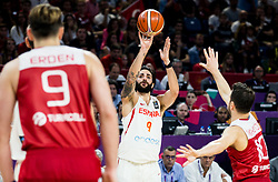 Ricky Rubio of Spain during basketball match between National Teams of Spain and Turkey at Day 11 in Round of 16 of the FIBA EuroBasket 2017 at Sinan Erdem Dome in Istanbul, Turkey on September 10, 2017. Photo by Vid Ponikvar / Sportida