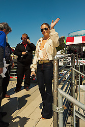 LONG BEACH, CA - APR 14: American country/pop singer and Grammy-award winner LeAnn Rimes sings the US National Anthem at 2012 Toyota Celebrity/PRO Race in which her husband actor Eddie Cibrian drove in the race.  All fees must be ageed prior to publication,.Byline and/or web usage link must  read PHOTO: Eduardo E. Silva/SILVEX.PHOTOSHELTER.COM