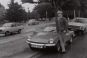 Laul Clements with his Triumph Spitfire, Long Lane, UK, 1984
