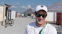 Brazil Rio de Janeiro 18. August 2016 Marina di Gloria, Rio 2016 Olympic Games<br /> Preparation day<br /> <br /> 49er SUI Sébastien Schneiter SUISS6 <br /> ©Jürg Kaufmann go4image.com