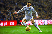 Jack Harrison of Leeds United (22) in action during the EFL Sky Bet Championship match between Leeds United and Bristol City at Elland Road, Leeds, England on 24 November 2018.