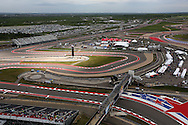 A ariel view of the Moto3  qualifying 1 during the 2016 Grand Prix of the Americas MotoGP race at circuit of the Americas, in Austin, Texas on April 9, 2016.