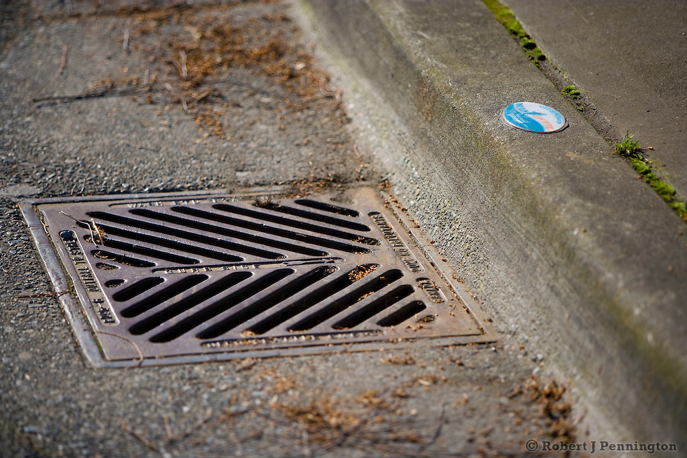 Stormwater drains at the City of Puyallup Building in Putallup Washington.
