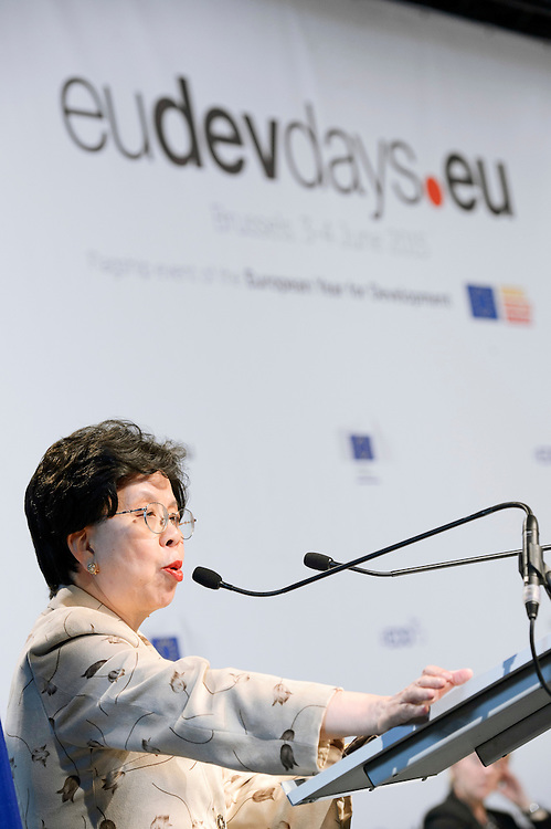 04 June 2015 - Belgium - Brussels - European Development Days - EDD - Health - Defeating Ebola and building up resilient health systems for a better future - Margaret Chan , Director General , World Health Organization (WHO) © European Union