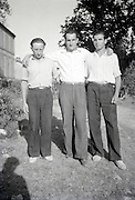 three friends posing for an images rural 1950s