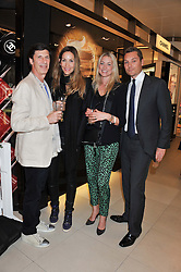 Left to right, MICHAEL JACOBSON, LISA BUTCHER and SEB & HEIDI BISHOP at the launch of the new John Lewis Beauty Hall, John Lewis, Oxford Street, London on 8th May 2012.