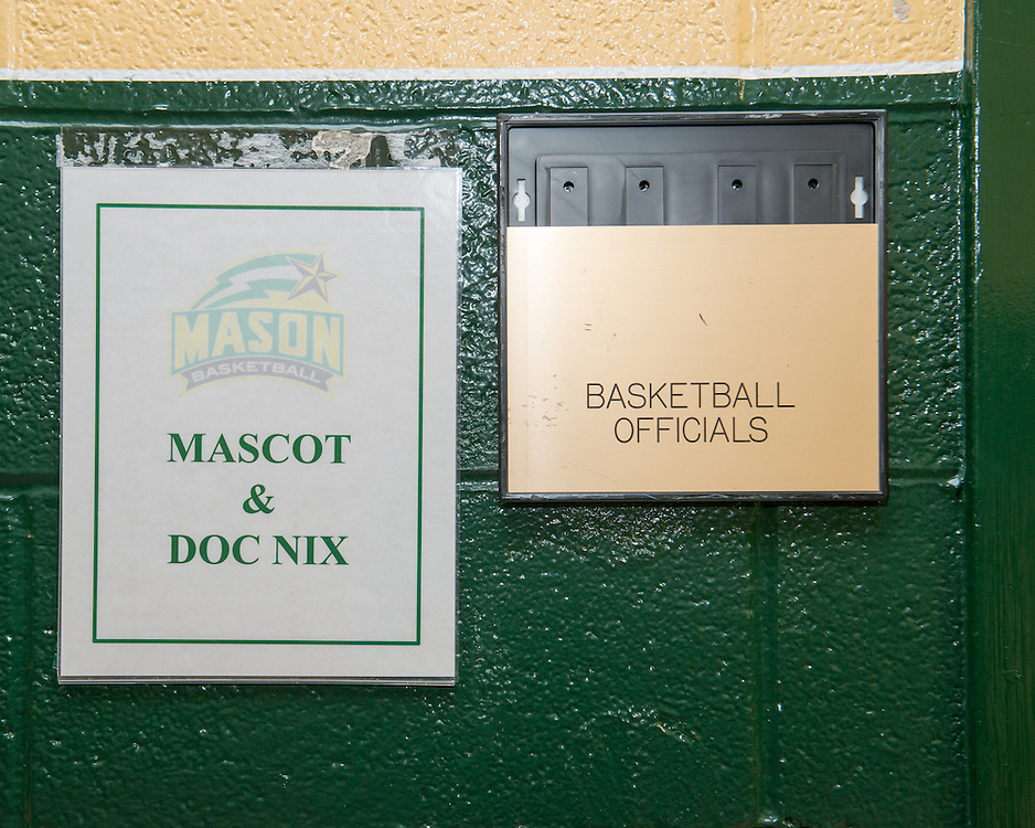 December 5, 2015 - Fairfax, VA - A day in the life of &quot;Doc Nix,&quot; aka Dr. Michael Nickens, the Director of the Athletic Bands for George Mason University. Doc Nix shares a dressing room with the George Mason Patriot.<br /> <br /> Photo by Susana Raab