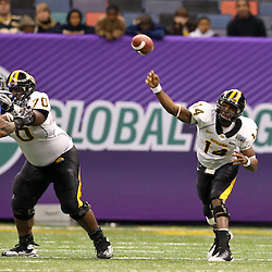 Dec 20, 2009; New Orleans, LA, USA; Southern Miss Golden Eagles quarterback Martevious Young (14) throws a pass during the second half of the 2009 New Orleans Bowl at the Louisiana Superdome. Middle Tennessee State defeated Southern Miss 42-32. Mandatory Credit: Derick E. Hingle-US PRESSWIRE