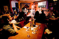 "Jazz Fest musicians, the ""Duane Andrew's Quartet"" perform at Hermann's nightclub in Victoria, British Columbia, Canada."