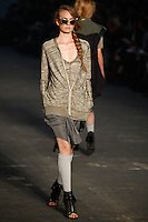 Nimue Smit walks the runway wearing Alexander Wang Spring 2010 collection during Mercedes-Benz Fashion Week in New York, NY on September 11, 2009