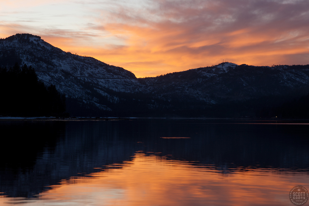 """Donner Lake Sunset 3"" - This sunset was photographed from the East end of Donner Lake, Truckee."