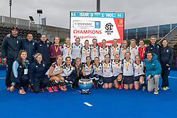 Surbiton. Holcombe v Surbiton - Investec Women's Hockey League Final, Lee Valley Hockey & Tennis Centre, London, UK on 29 April 2018. Photo: Simon Parker