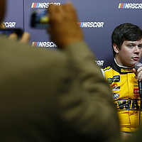 January 23, 2018 - Charlotte, North Carolina, USA: Erik Jones (20) talks with the media during the NASCAR Media Tour at Charlotte Convention Center in Charlotte, North Carolina.