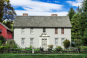 Historic Mission House originally occupied by the Reverand John Sergeant, missionary to the Mohican Indians, Stockbridge, Massachusetts, USA