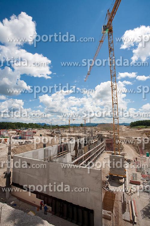 Building of a new football stadium and sports arena in Stozice, on June 12, 2009, in Stozice, Ljubljana, Slovenia.  (Photo by Vid Ponikvar / Sportida)