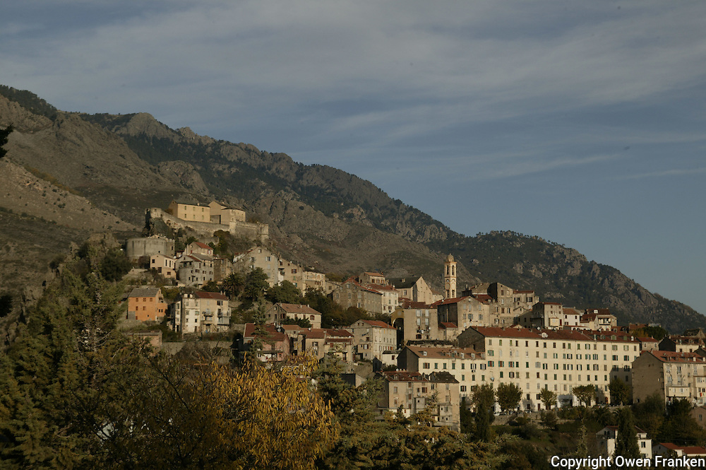 the mountain village of Corte, in Corsica..photo by Owen Franken