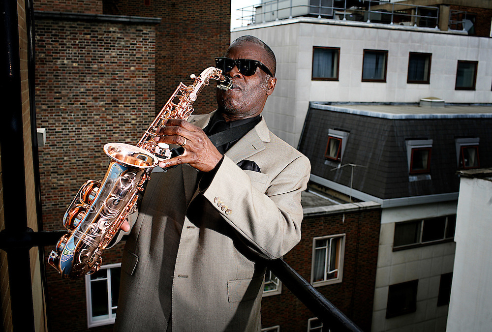 Maceo Parker with a golden Sax