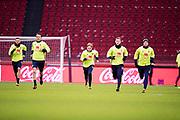 AMSTERDAM, NEDERL&Auml;NDERNA - 2017-10-09: Marcus Berg, Albin Ekdal, Emil Forsberg, Emil Kraft och John Guidetti under tr&auml;ning inf&ouml;r FIFA 2018 World Cup Qualifier mellan Nederl&auml;nderna och Sverige p&aring; Amsterdam ArenA  den 9 oktober, 2017 i Amsterdam, Nederl&auml;nderna. <br /> Foto: Nils Petter Nilsson/Ombrello<br /> ***BETALBILD***