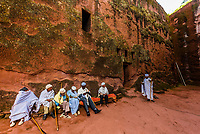 Bet Amanuel, one of 11 rock hewn medieval monolithic churches in Lalibela, Ethiopia.