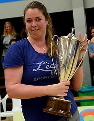 12-04-2014 NED: Finale vv Alterno - Sliedrecht Sport, Apeldoorn<br /> Alterno pakt het kampioenschap door Sliedrecht voor de derde maal te verslaan / Trainer Suus Zijl-Luttikhuis