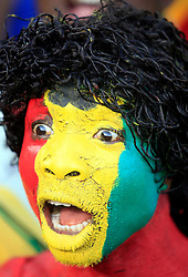 A Ghana fan gets in the mood during the 2010 FIFA World Cup South Africa Group D match between Serbia and Ghana at Loftus Versfeld Stadium on June 13, 2010 in Pretoria, South Africa. during the 2010 FIFA World Cup South Africa Group D match between Serbia and Ghana at Loftus Versfeld Stadium on June 13, 2010 in Pretoria, South Africa.