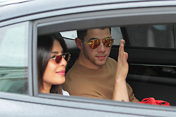 Priyanka Chopra and her husband Nick Jonas sighted outside Hotel Martinez in Cannes, France. 19 May 2019 Pictured: Priyanka Chopra and her husband Nick Jonas. Photo credit: MEGA TheMegaAgency.com +1 888 505 6342