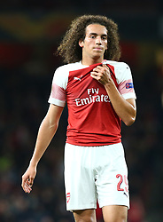 September 20, 2018 - London, England, United Kingdom - Arsenal's Matteo Guendouzi.during UAFA Europa League Group E between Arsenal and FC Vorskla Poltava at Emirates stadium , London, England on 20 Sept 2018. (Credit Image: © Action Foto Sport/NurPhoto/ZUMA Press)