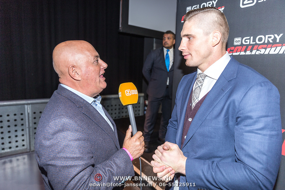 NLD/Amsterdam/20161101 - Glory persconferentie Verhoeven & Badr Hari, Jack van Gelder interviewt Rico Verhoeven
