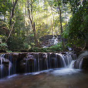 Phra Charoen Waterfall, in Phra Charoen National Park, Mae Sot, Thailand.