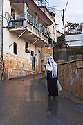 Israel, Upper Galilee, The Druze village of Peki'in Druze woman in traditional dress