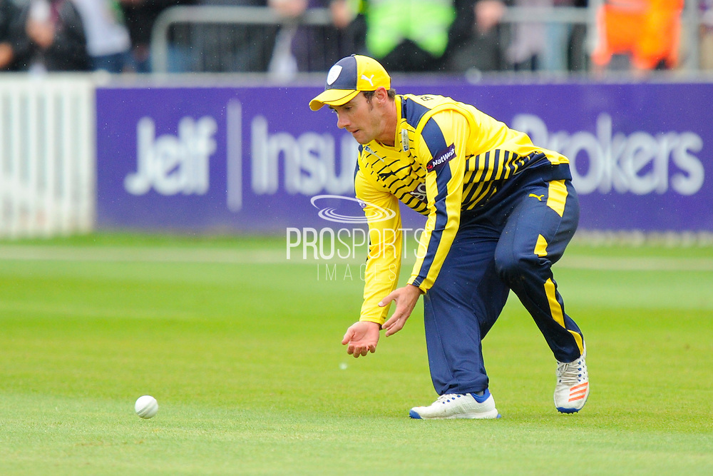 Hampshire's Will Smith during the NatWest T20 Blast South Group match between Somerset County Cricket Club and Hampshire County Cricket Club at the Cooper Associates County Ground, Taunton, United Kingdom on 19 June 2016. Photo by Graham Hunt.