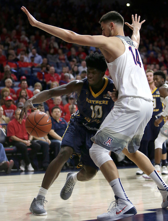 Northern Colorado forward Ibrahim Sylla (10) during the first half of an NCAA college basketball game against Arizona, Monday, Nov. 21, 2016, in Tucson, Ariz. (AP Photo/Rick Scuteri)