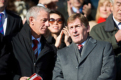 LIVERPOOL, ENGLAND - Saturday, February 6, 2010: Liverpool's legends Ian Rush and King Kenny Dalglish prepare to see their side take on Everton in the Premiership match at Anfield. The 213th Merseyside Derby. (Photo by: David Rawcliffe/Propaganda)